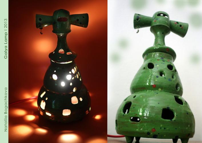 авторские керамические лампы, необычный дизайн интерьера, богачкова , рокета, елка, украинские жещины, галя, лампа гончарная, современное искусство, свет, ивга, олена, алена 2.0,богачкова,bogachkova, галя