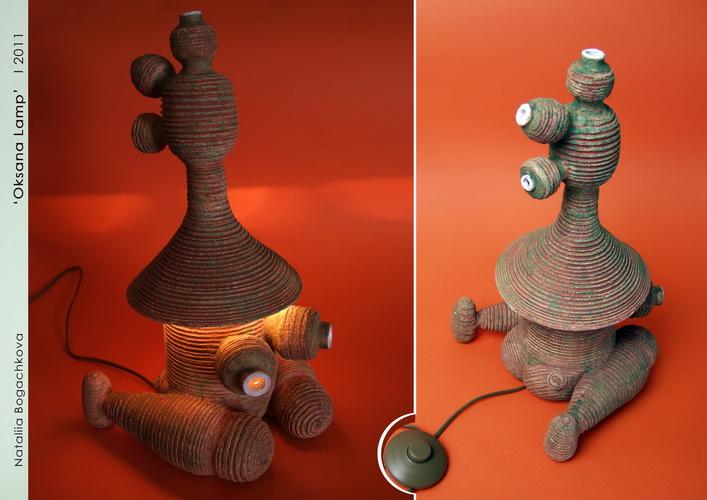 авторские керамические лампы, необычный дизайн интерьера, богачкова , рокета, елка, украинские жещины, оксана,P.Art.com, лампа гончарная