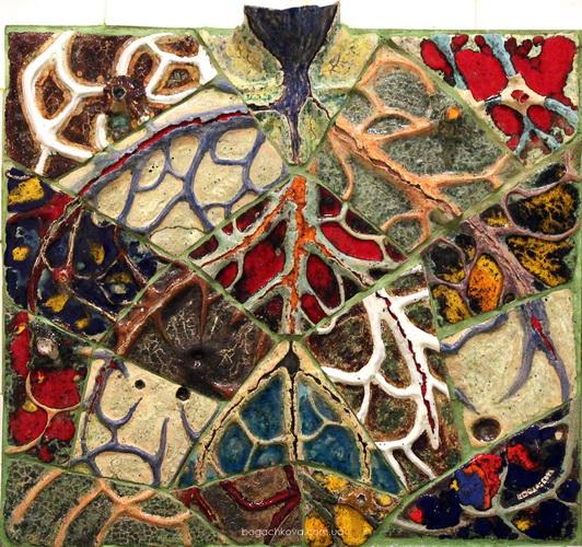 emanacia, emanation, ceramic mural, conceptual sculptur, philosofic art, bogachkova